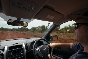 Driving the Dunkeld-Mitchell road in early 2013 (photo: Chris Jones)