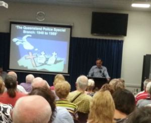 Barry Kroch speaks at the Queensland Police Museum