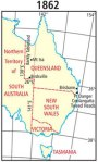 """The map of Queensland redrawn in 1862 to include the """"Western Afterthought"""""""