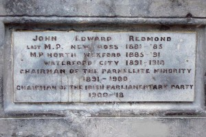 John Redmond plaque, Wexford.