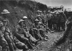 Australian soliders at the Somme (Australian War Memorial).