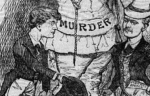 Detail from a cartoon in the Protestant Standard, March 17, 1883