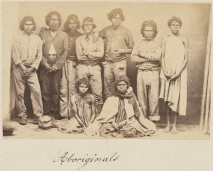 Aboriginal people at Durundur reserve.