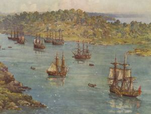 "The First Fleet in 1788 continue in a long tradition of ""illegal immigration"" by boat to Australia"